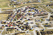 Nederland, Groningen, Gemeente De Marne, 28-02-2016; Marnewaard met oefendorp Marnehuizen.<br /> Ministry of Defence training facility.<br /> <br /> luchtfoto (toeslag op standard tarieven);<br /> aerial photo (additional fee required);<br /> copyright foto/photo Siebe Swart