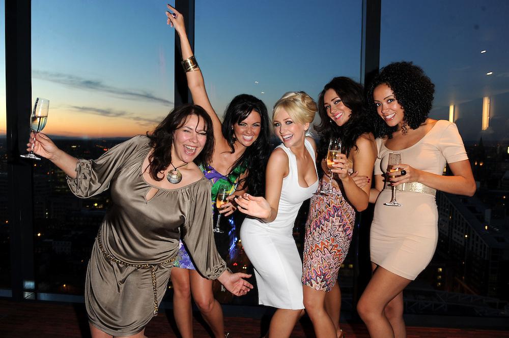 Gemma Merna  Party <br /> Left  Nicole Barber-Lane ,Jennifer Metcalfe ,Gemma Merna,Claire Cooper<br /> Front Left Leah Hackett, <br /> Pix Dave Nelson