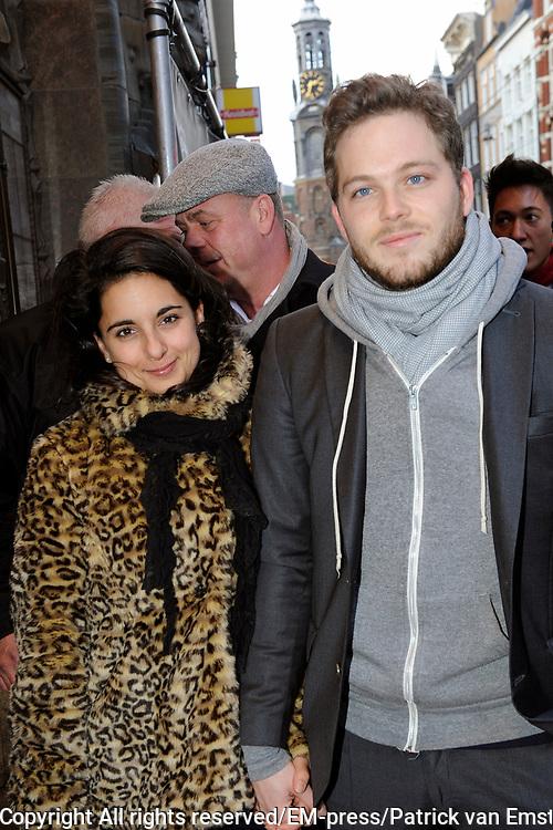Premiere van de film Het Gordijnpaleis in Pathe Tuschinski in Amsterdam.<br /> <br /> Op de foto: Teun Luijkx