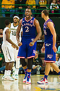 WACO, TX - JANUARY 7: Cliff Alexander #2 of the Kansas Jayhawks celebrates against the Baylor Bears on January 7, 2015 at the Ferrell Center in Waco, Texas.  (Photo by Cooper Neill/Getty Images) *** Local Caption *** Cliff Alexander