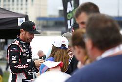 October 5, 2018 - Dover, Delaware, United States of America - Clint Bowyer (14) hangs out in the garage during practice for the Gander Outdoors 400 at Dover International Speedway in Dover, Delaware. (Credit Image: © Justin R. Noe Asp Inc/ASP via ZUMA Wire)