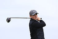 James Mitten (Westmanstown) on the 1st tee during Round 2 of the Connacht U16 Boys Amateur Open Championship at Galway Bay Golf Club, Oranmore, Galway on Wednesday 17th April 2019.<br /> Picture:  Thos Caffrey / www.golffile.ie