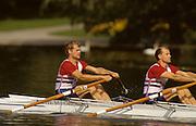 Bled, Slovenia, YUGOSLAVIA. GBR LM2X. Bow, Robert LUKE and Chris SKUSE. 1989 World Rowing Championships, Lake Bled. [Mandatory Credit. Peter Spurrier/Intersport Images]
