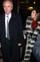 SVEN GORAN ERIKSSON and NANCY DELL'OLIO at a launch party for Kraken Opus's new luxury sports books held at Sketch, 9 Conduit Street, London W1 on 22nd February 2006.<br />