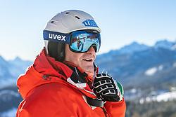 14.02.2021, Cortina, ITA, FIS Weltmeisterschaften Ski Alpin, Abfahrt, Herren, Besichtigung, im Bild Andreas Puelacher (Sportlicher Leiter ÖSV Ski Alpin Herren) // Andreas Puelacher Austrian Ski Association head Coach alpine Men's during the course inspection for the mens Downhill Race of FIS Alpine Ski World Championships 2021 in Cortina, Italy on 2021/02/14. EXPA Pictures © 2021, PhotoCredit: EXPA/ Johann Groder