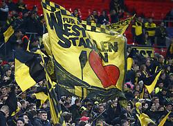 February 13, 2019 - London, England, United Kingdom - Flags of Borussia Dortmund .during Champion League Round of 16between Tottenham Hotspur and Borussia Dortmund at Wembley stadium , London, England on 13 Feb 2019. (Credit Image: © Action Foto Sport/NurPhoto via ZUMA Press)