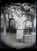 outdoors adult woman portrait France 1923