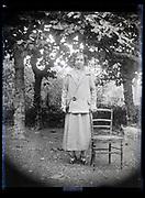 outdoors adult woman portrait France 1923