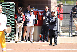 26 April 2015:  The BirdHouse (Redbirds Dugout) during an NCAA Missouri Valley Conference (MVC) Championship series women's softball game between the Loyola Ramblers and the Illinois State Redbirds on Marian Kneer Field in Normal IL