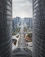 Aerial view of International Finance Centre, Chengdu, China