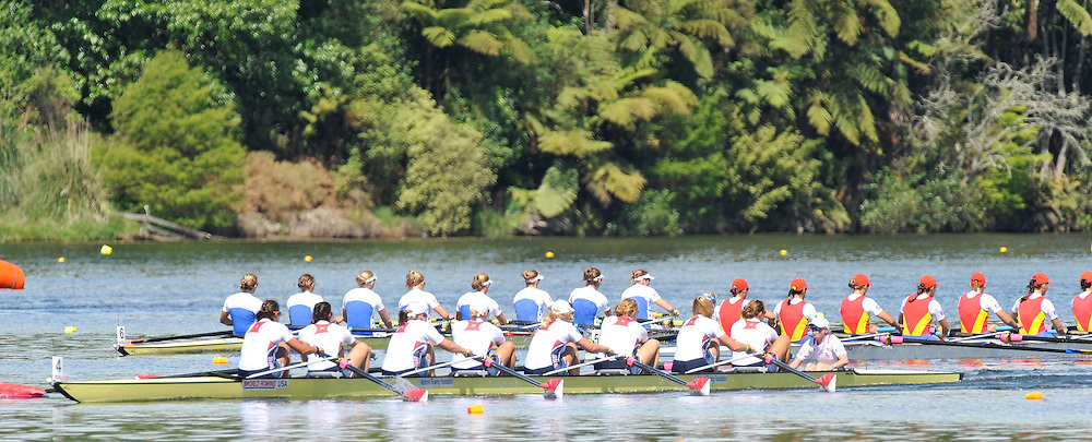 Hamilton, NEW ZEALAND.  Women's eights Final USA W8+ CAN W8+ GBR W8+, at the 2010 World Rowing Championships - Lake Karapiro. Sunday. 07.11.2010.  [Mandatory Credit Peter Spurrier:Intersport Images].