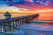 Sunset Surfing at the Pier in San Clemente