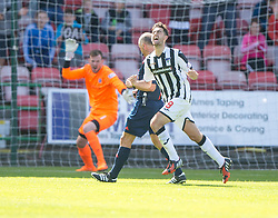 Dunfermline's Shaun Byrne (8) celebrates after scoring their second goal. <br /> Dunfermline 5 v 1 Cowdenbeath, Scottish League Cup game played today at East End Park.