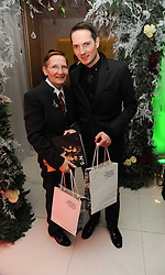 Singer songwriter Dan Gillespie Sells and his mother Katherine Gillespie Sells at the launch of the English National Ballet's Christmas season 2009 held at the St.Martin;s Lane Hotel, London on 15th December 2009.