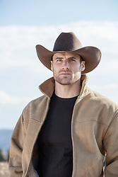 portrait of a handsome All American Cowboy