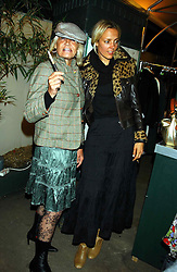 Left to right, Rock Roll figure ANITA PALLENBURG and designer BAY GARNETT at an exclusive evening featuring the greatest talents in fashion today in aid of the African children who have been affected bt the AIDS epidemic held at the Chelsea Gardener, Sydney Street, London on 20th September 2004<br /><br />NON EXCLUSIVE - WORLD RIGHTS