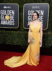 January 6, 2019 - Beverly Hills, California, United States of America - Golden Globe nominee Claire Foy attends the 76th Annual Golden Globe Awards at the Beverly Hilton in Beverly Hills, California on  Sunday, January 6, 2019. HFPA/POOL/PI (Credit Image: © Prensa Internacional via ZUMA Wire)