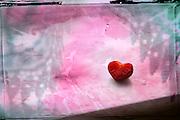 Strawberry shaped like a heart
