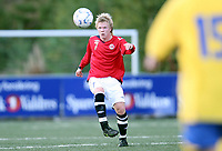 Fotball , 23. september 2008 , privatkamp , G15 , Norge - Sverige 3-3<br /> Kristoffer Møvik , Norge og Eikanger