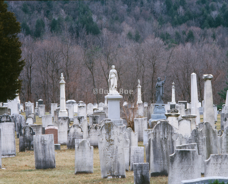 Old grave yard in the fall Upstate New York.