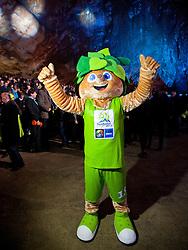 Official mascot Lipko during FIBA Europe Eurobasket 2013 draw ceremony on November 18, 2012 in Postojna cave, Postojna, Slovenia. (Photo By Vid Ponikvar / Sportida)