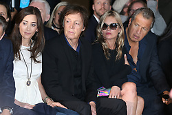 File photo : Sir Paul McCartney, wife Nancy Shevell, Kate Moss and Mario Testino front row for the Stella McCartney Spring-Summer 2013 Ready-to-Wear collection show held at Opera Palais Garnier in Paris, France on October 1, 2012. Photographer to the stars Mario Testino is a favourite of the Royal Family but he is facing a stream of sexual misconduct allegations from male models. Fashion brands Burberry and Michael Kors moved quickly to cut ties with him. He had been a front-runner to be the official photographer at the wedding of Prince Harry and Meghan Markle but has been ruled out following the uproar. Photo by Frederic Nebinger/ABACAPRESS.COM