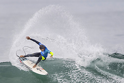 September 15, 2017 - San Onofre, California, USA - Kanoa Igarashi of Huntington Beach cuts back on a wave as he surfs against Filipe Toledo of Brazil in the quarterfinals of the Hurley Pro at Trestles held at San Onofre State Beach on Friday, August 15, 2017. Toledo defeated Igarashi and went on to win the competition. (Credit Image: © Mark Rightmire/The Orange County Register via ZUMA Wire)
