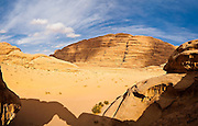 View from the Um Frouth Arch, Wadi Rum, Jordan.