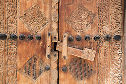 Detail of old wooden door at Shaikh Isa bin Ali House (Al Muharraq) Kingdom of Bahrain.