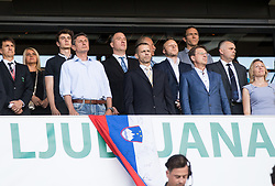 Borut Pahor, Ales Ceferin and Miro Cerar during football match between National teams of Slovenia and Malta in Round #6 of FIFA World Cup Russia 2018 qualifications in Group F, on June 10, 2017 in SRC Stozice, Ljubljana, Slovenia. Photo by Vid Ponikvar / Sportida
