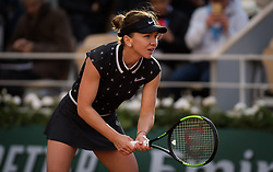 May 28, 2019 - Paris, FRANCE - Simona Halep of Romania in action during her first-round match at the 2019 Roland Garros Grand Slam tennis tournament (Credit Image: © AFP7 via ZUMA Wire)