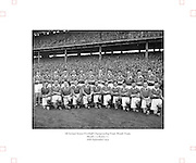 All Ireland Senior Football Championship Final, Kerry v Meath, 26091954AISFCF, Meath 1-13 Kerry 1-7, 26.09.1954, 09.26.1954, 26th Septmber 1954,.Meath Team:.Front Row (from left) Patsy Ratty, Jim Reilly, Kevin Lenehan, M O'Brien, Matthem McDonnell, X Dermott, Paddy M, Patsy McGearty, Billie Rattigan, Larry O'Brien, John Clarke, Miceal O'Brien. Back Row (from left) X Brady, Edward Durnin, Richard M, Jim Farrell, Brian Smith, Kevin Mc Connell, Thomas Moriarty, X Flanagan, Frankie Byrne, Gerard Smith, X O'Brien. .