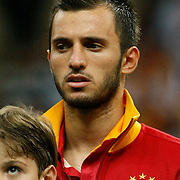 Galatasaray's Emre Colak during their Turkish Super League soccer match Galatasaray between Kasimpasa at the TT Arena at Seyrantepe in Istanbul Turkey on Monday 20 August 2012. Photo by TURKPIX