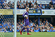 Oxford United Goalkeeper, Jonathan Mitchell (41) during the EFL Sky Bet League 1 match between Portsmouth and Oxford United at Fratton Park, Portsmouth, England on 18 August 2018.
