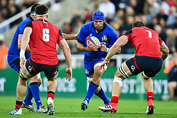 Dean Budd of Italy in action during todays match<br /> <br /> Photographer Craig Thomas/Replay Images<br /> <br /> Quilter International - England v Italy - Friday 6th September 2019 - St James' Park - Newcastle<br /> <br /> World Copyright © Replay Images . All rights reserved. info@replayimages.co.uk - http://replayimages.co.uk