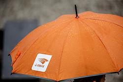 KNHS paraplu<br /> Para Dressuur Finale<br /> Dutch Championship Dressage - Ermelo 2015<br /> © Hippo Foto - Dirk Caremans<br /> 19/07/15