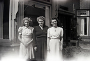 three woman posing 1950s Netherlands