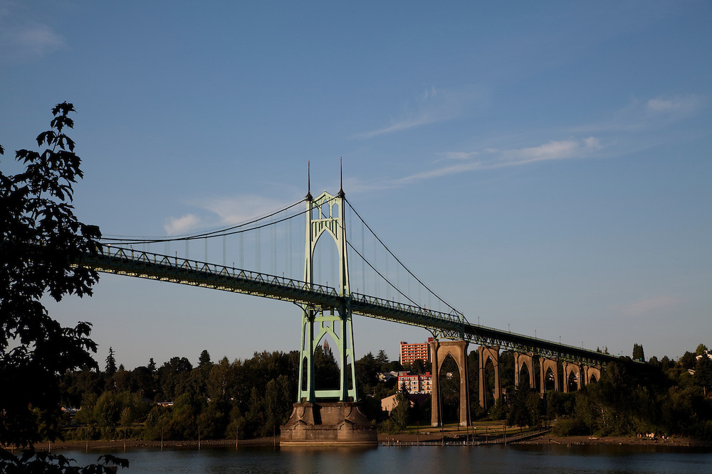 St St. John's Bridge in Portland Oregon