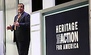 Republican presidential candidate Gov. Chris Christie speaks at the Heritage Foundation Take Back America candidate forum September 18, 2015 in Greenville, South Carolina. The event features 11 presidential candidates but Trump unexpectedly cancelled at the last minute.
