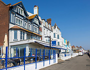 Brudenell Hotel and historic seafront houses, Aldeburgh, Suffolk, England, UK