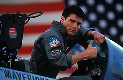 May 10, 2016 - California, U.S. - 'Top Gun' marks its 30th anniversary on May 16, 2016 and has been released in Digital HD. In 1986 the movie Top Gun came roared into theaters like an F-14 Tomcat. It got a missile lock on the box office and shot down just over 56 million, making it the 11th highest grossing movie of Tome Cruise's career. (Credit Image: © Paramount Pictures/Entertainment Pictures/ZUMAPRESS.com)