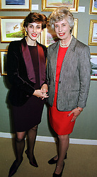 Left to right, LADY SAMANTHA HURLEY and her mother<br />  the DOWAGER COUNTESS OF DENBIGH & DESMOND <br /> at an exhibition in London on 17th May 2000.OEE 6