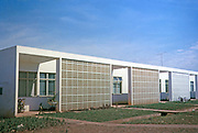 Frontages of homes housing in neighbourhood units capital city of Brasilia, Federal District, Brazil in 1962