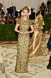 Anya Taylor-Joy attending the Costume Institute Benefit at The Metropolitan Museum of Art celebrating the opening of Heavenly Bodies: Fashion and the Catholic Imagination. The Metropolitan Museum of Art, New York City on May 7, 2018. Photo by Lionel Hahn/ABACAPRESS.COM