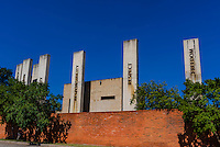 Exterior view, Apartheid Museum, Johannesburg, South Africa.