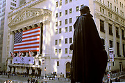 New York Stock Exchange & Federal Hall, Broad Street & Wall Street, Manhattan, New York
