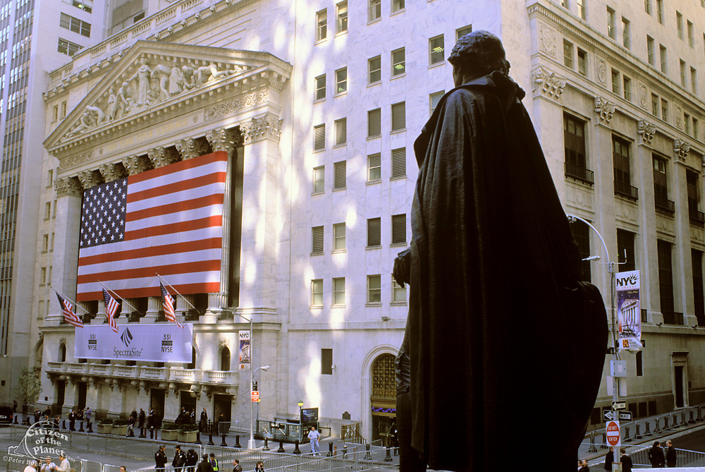 New York Stock Exchange & Federal Hall, Broad Street & Wall Street, Manhattan, New York