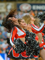 Free State Cheetah Cheerleaders during the Currie Cup 1st division match between the The Free State Cheetahs and the Blue Bulls held at Toyota Stadium (Free State Stadium), Bloemfontein, South Africa on the 13th August 2016<br /> <br /> Photo by:   Frikkie Kapp / Real Time Images