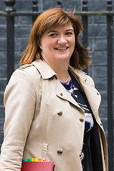Downing Street, London, June 2nd 2015. Education Secretary Nicky Morgan leaves 10 Downing Street following the weekly meeting of the Cabinet.