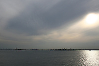 Evening sunlight on the Hudson River, New York, USA